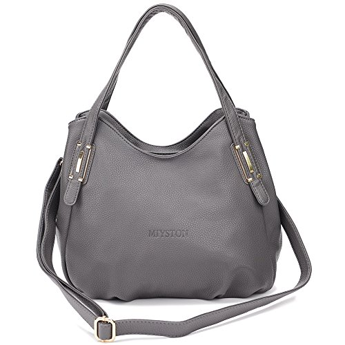 Grey Leather Handbags - 8