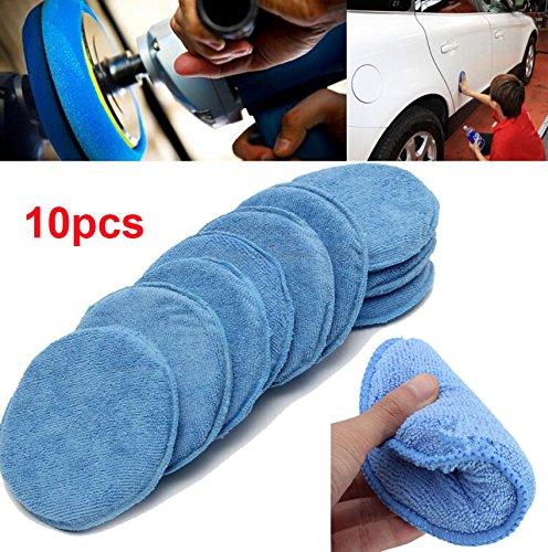 WINOMO Car Wax Sponge Waxing Polish Wax Foam Sponge Applicator Pads Cars Vehicle Glass Clean (10PCS/Set) by WINOMO (Image #2)