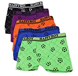 2-8 Years Old Boys Soccer Print Boxer Briefs Cotton Underwear 5 Multipack
