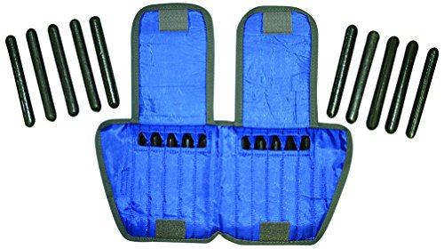 the Cuff 10-3332-2 Ankle Weight, 10 lb, 20 x 0.5 lb Inserts, Blue