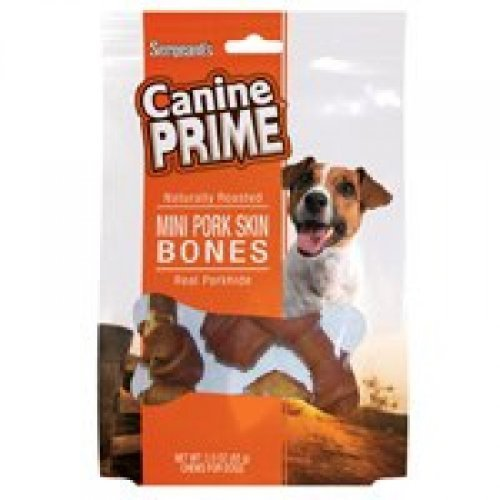 (Mini Pork Skin Bones Dog Treat)
