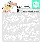 "American Crafts We R Memory Keepers Heatwave Script Stencil, 7 x 7"""