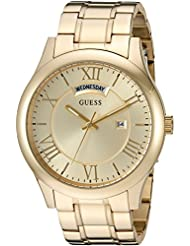 GUESS Mens Stainless Steel Casual Bracelet Watch with Day and Date Display, Color: Gold-Tone (Model: U0791G2)