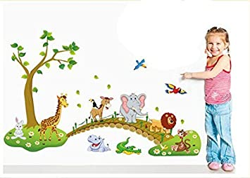 Amazon.com: Conejo de Lovely Jungle Zoo Animal – Adhesivo de ...