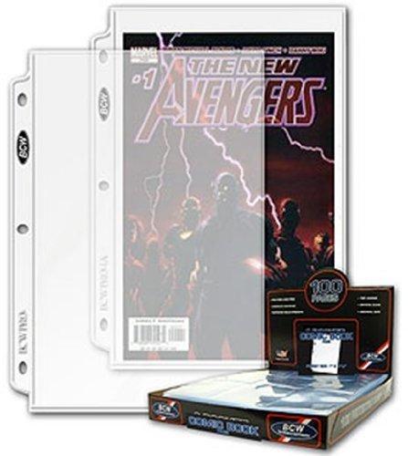 (100ct BCW 1-Pocket Comic Magazine Storage Binder Pages  7
