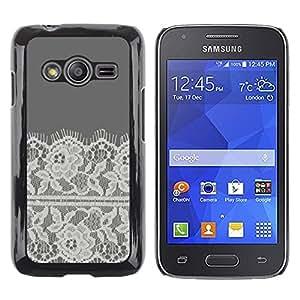 TopCaseStore / la caja del caucho duro de la cubierta de protección de la piel - Flowers Crocheted Fabric Sewing - Samsung Galaxy Ace 4 G313 SM-G313F
