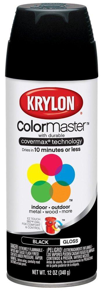 Krylon Interior/Exterior Spray Paint (12 oz.) - Glossy Black/OSHA