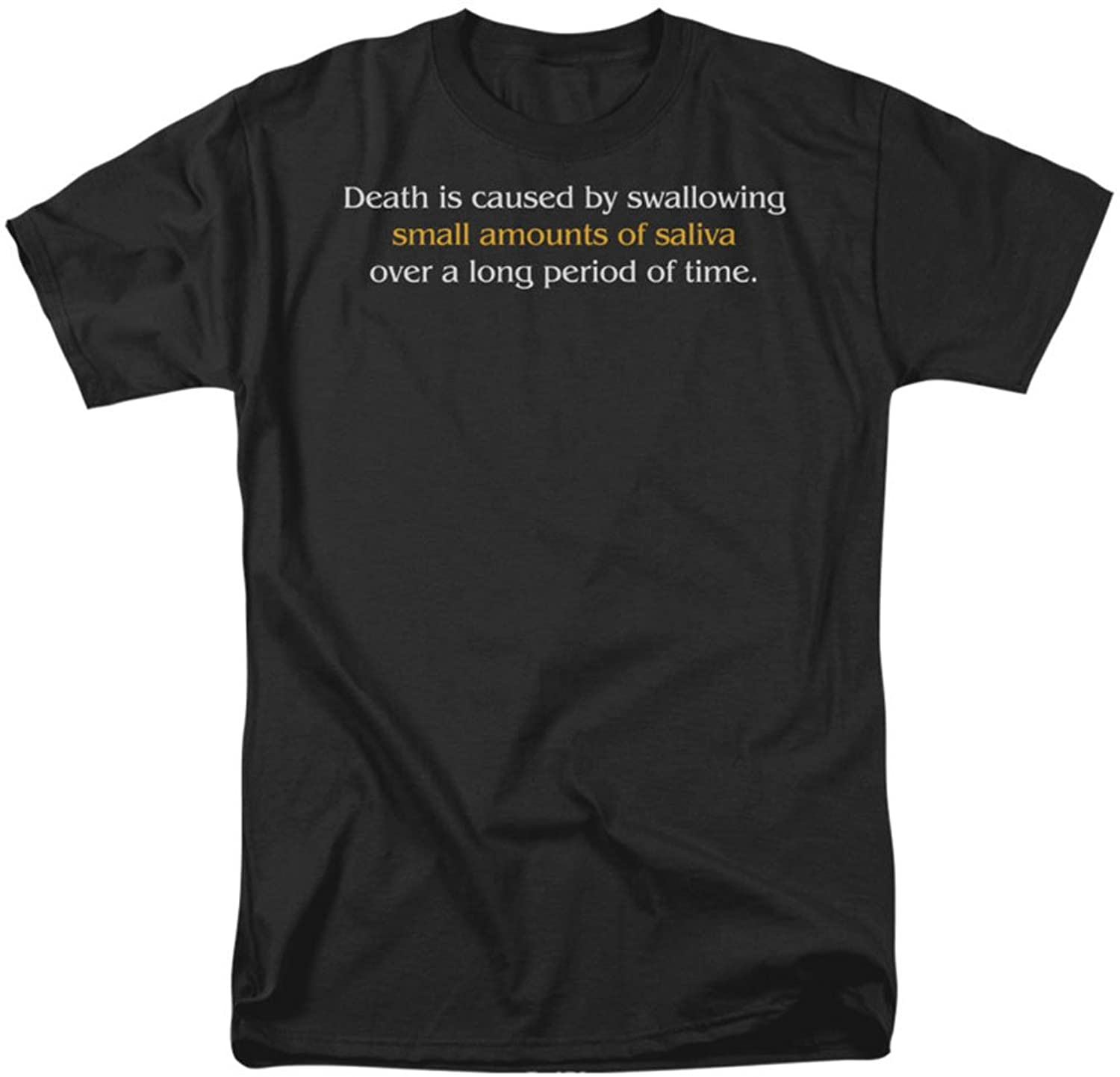 Funny Tees - Mens Death Caused By Saliva T-Shirt