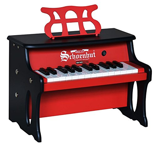 Schoenhut 25 Key 2 Toned Table Top Piano, Red/Black, One Size