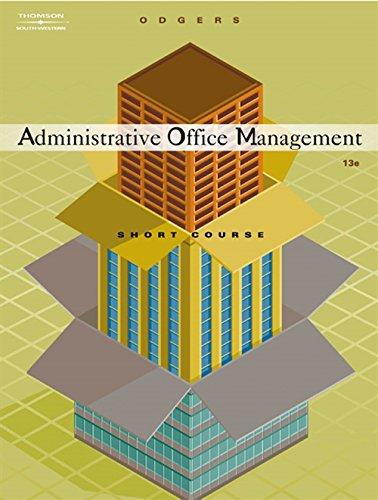 Administrative Office Management, Short Course