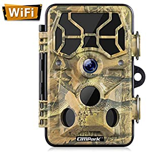 Campark Trail Camera-WiFi 20MP 1296P Upgrade Bluetooth Hunting Game Camera with Night Vision Motion Activated for…