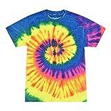 Colortone Tie Dye T-Shirt LG Neon Rainbow