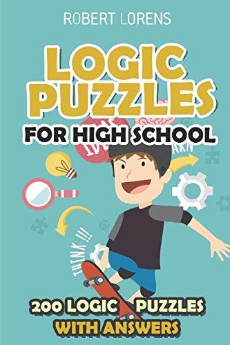 Logic Puzzles for High School: Hashiwokakero Puzzles - 200 Logic Puzzles with Answers (Simple Maths Puzzles) (Riddles And Brain Teasers For High School Students)