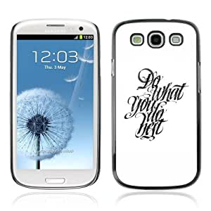 Designer Depo Hard Protection Case for Samsung Galaxy S3 / Cool Calligraphy Message