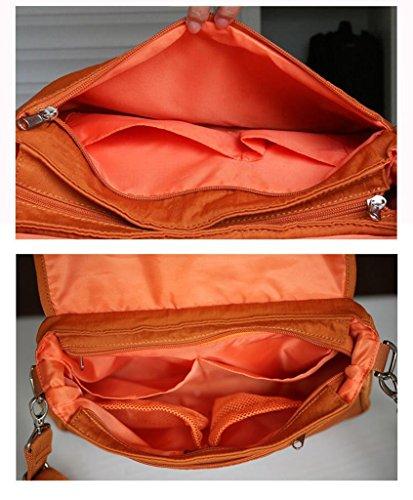 HJXJXJX Bolso de la momia, pequeño hombro portátil se puede lavar la mochila multiusos del pañal del bebé de la manera , gray Orange