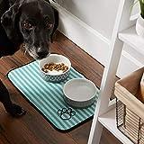 Bone Dry DII Stripe Embroidered Paw Print Pet Mat