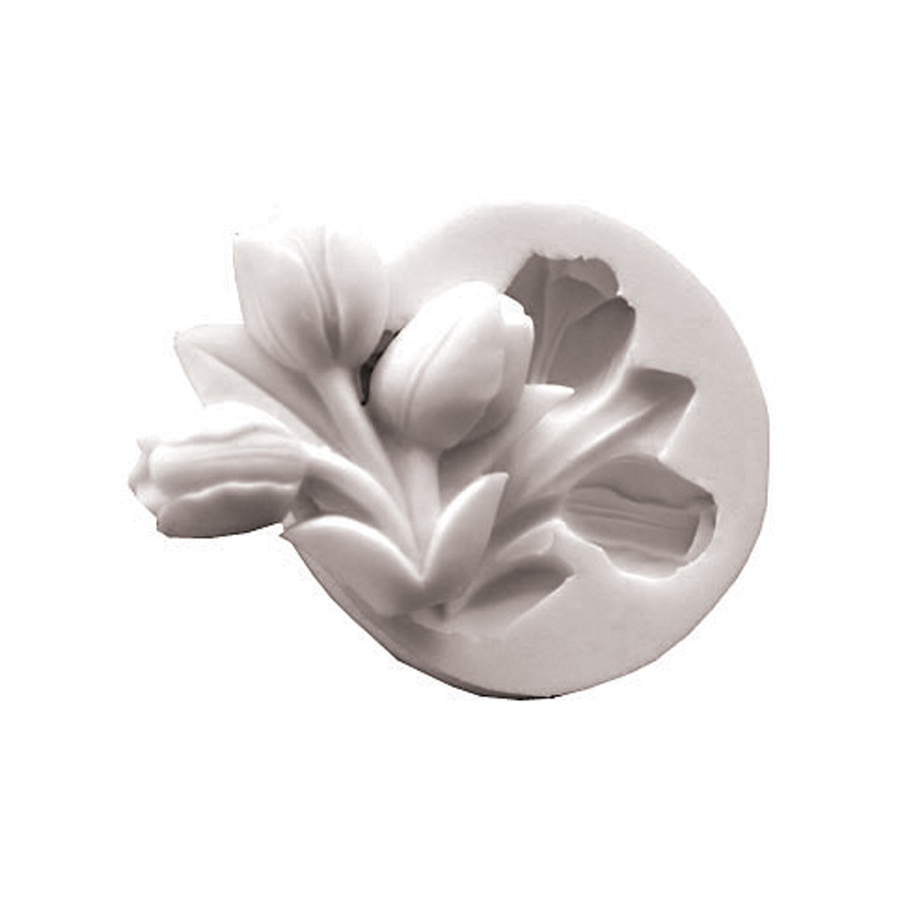 Paderno World Cuisine 2 3/8 Inch by 2 Inch Composite Plastic Tulip Chocolate Mold