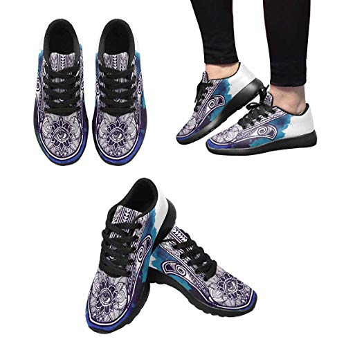 Running Good Sports Design Fatima Luck Shoes Women's 1 InterestPrint of Hand Walking 5qOx668