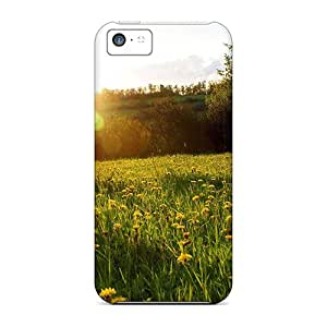 CaroleSignorile Perfect Cases For Iphone 5c/ Anti-scratch Protector Cases (spring Meadow Nature Landscape)