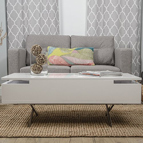 Amazon.com: Stelar White Lacquer Lift-Top Rectangular Coffee Table: Kitchen  & Dining - Amazon.com: Stelar White Lacquer Lift-Top Rectangular Coffee Table