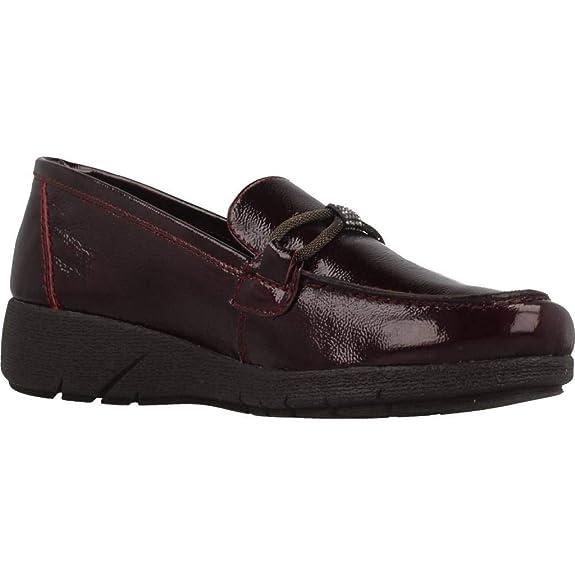 Mocasines para Mujer, Color Rojo, Marca 24 HORAS, Modelo Mocasines para Mujer 24 HORAS 23862 Rojo: Amazon.es: Zapatos y complementos