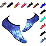 Women's Men's Water Shoes Outdoor Beach Swimming Aqua Socks Quick-Dry Barefoot Shoes for Surfing Yoga Exercise(Rock-Blue,40/41EU)