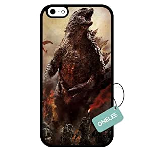Onelee(TM) - Customized Godzilla TPU Apple iPhone 6 Case Cover - Black 01