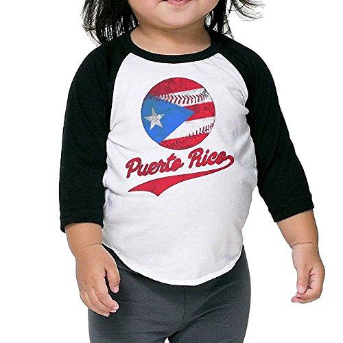 VXUeiq Children Kids Puerto Rico Baseball Ball Flag Puerto Rican Toddler Raglan T Shirts Baseball 3/4 Sleeves Jersey Shirt Baby Tee 3 (Moon Baseball Jersey)