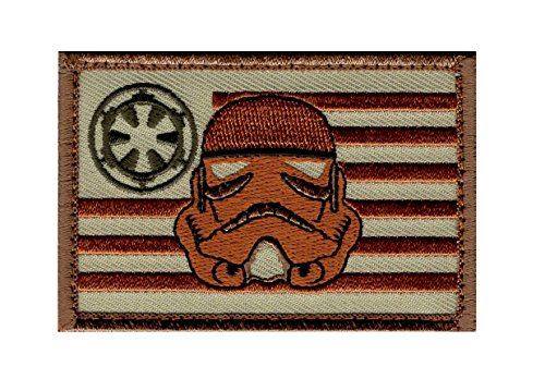 Stormtrooper USA Flag Star Wars Rogue Morale Hook Fastener Patch (3.0 X 2.0 -ST5)