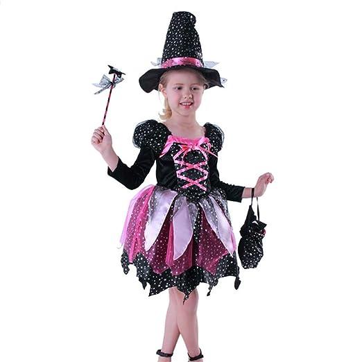 ZGCO Disfraces de Halloween disfraces infantiles niñas con luces ...