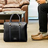 VanGoddy Genuine Leather Briefcase Messenger Bag