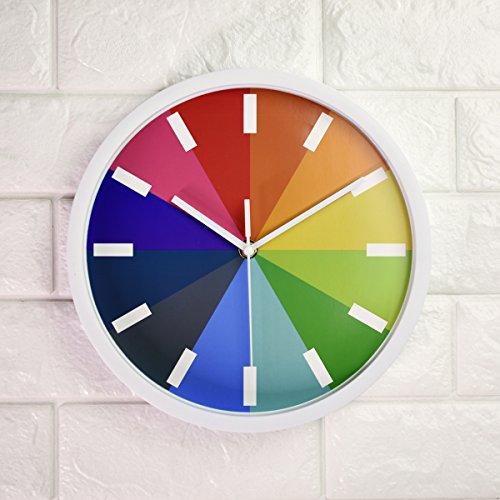 Imoerjia Stylish Wall Clock Utility Mute Bedroom Clock Garden Round,10'' -
