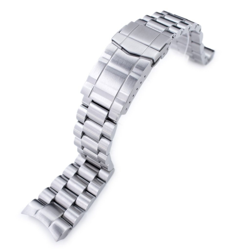 22mm Endmill 316L SS Watch Bracelet for Orient Mako II & Ray II, Submariner Clasp Brushed by Orient Replacement by MiLTAT (Image #1)