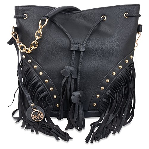 Vera Womens Fringe Bag w/ Cross Body Strap (Straps Fringe)