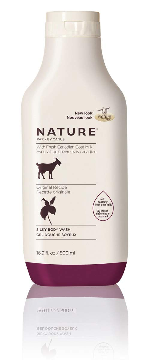 Nature by Canus Silky Body Wash with Fresh Canadian Goat Milk, Original Recipe, 16.9 Fluid Ounce
