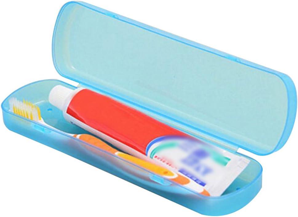 Ruikey Bo/îte de Rangement Portable Brosse /à Dents de Voyage Transparent