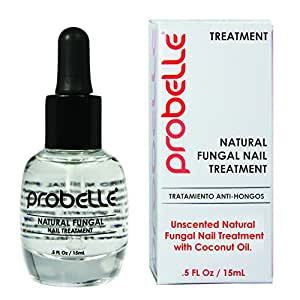 Probelle Natural Fungal Nail Treatment, Anti Fungal Nail Treatment, Nail Color Restoration, Clear.5 oz/15 ml (Patented Formula)