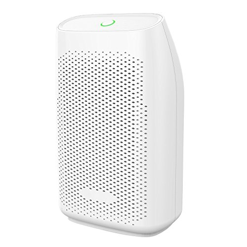 Dehumidifier, hysure 700ml Water Tank Mini Dehumidifier Portable for Damp Air, Dehumidifier for Home, Crawl Space, Bathroom, RV, Baby Room, Compact Dehumidifier, White by Hysure