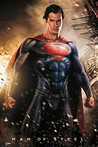 Set Superman Man Of Steel Henry Cavill Poster 36x24 Inches