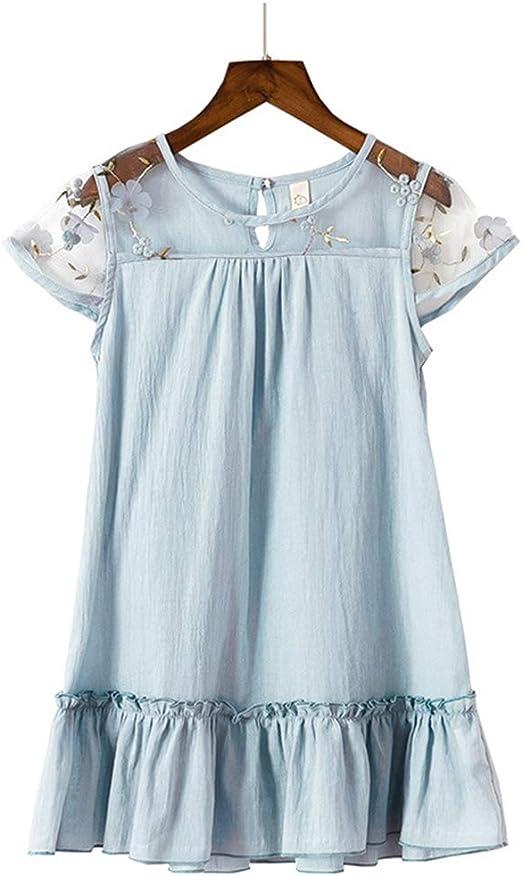 LYNNDRE Vestidos sin Mangas de algodón para niñas pequeñas ...
