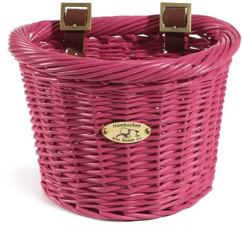 Nantucket Bicycle Basket Co. Buoy & Gull Collection Children's D-Shape Basket, - Girl Basket Bicycle