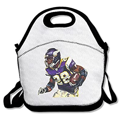 100% Polyester All Day #28 Adrian Peterson Multifunction Reusable Snack Bag Handbag Lunch Tote