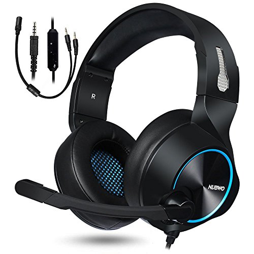 - NUBWO Gaming Headset for Xbox One PS4 PC Gaming and Nintendo Switch,Stereo Surround Noise Cancelling Over Ear Gaming Headphones with Mic Volume Control for Xbox 1 S Playstation 4 Laptop,PC,Mac,iPad