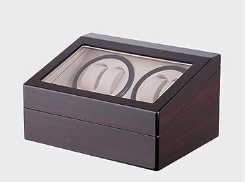 K-Y Cajas giratorias Caja para Relojes Bobinadora de Reloj automática de Lujo Winder de Reloj automático