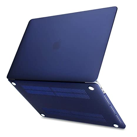 Batianda Funda para Macbook Air 13 2018 A1932, Cubierta de cáscara Dura Ultra Delgada para Apple MacBook Air 13.3 Pulgadas con Retina Case Cover, Azul ...