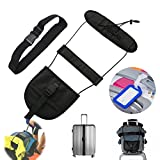 Bag Bungee,Luggage Strap Bungee Add a Bag Travel Accessories Bag Tag free