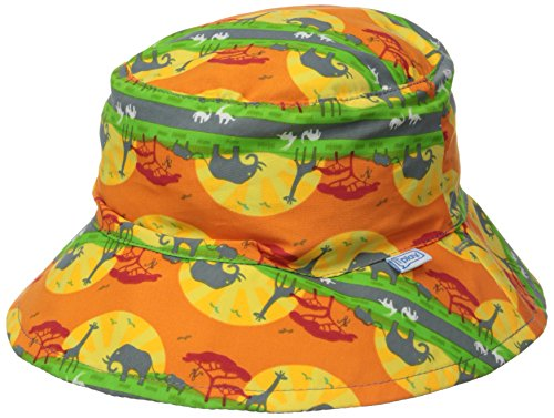 i play. Baby Boys' Reversible Bucket Sun Protection Hat, Orange Safari, 9-18 Months