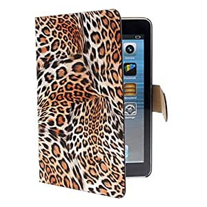 Buy Leopard Print PU Full Body Case with Stand and Card Slot for iPad mini (Assorted Colors) , khaki