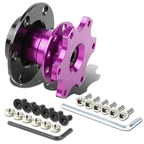 6-Hole Pull Ball Bearing Style 2 inches Thick Steering Wheel Short Quick Release Hub Adapter (Purple) Boss Jdm Racing Steering Wheel