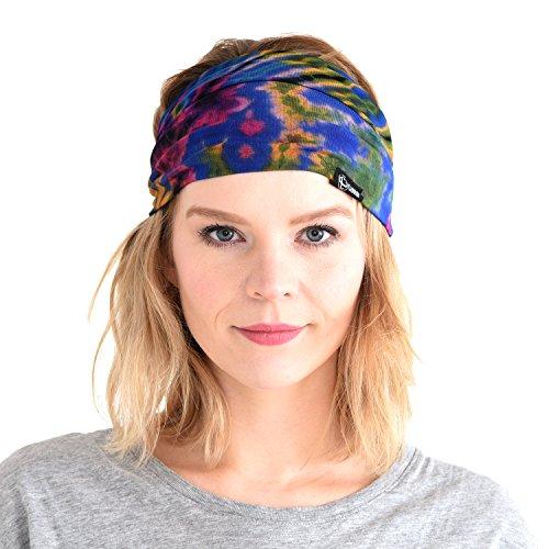 CHARM Casualbox | Tie-Dye Headband Bandana Boho Hippie Retro Flower Psychedelic 60's C ()
